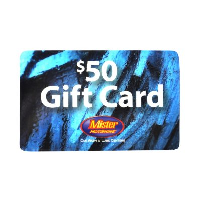 Mister Carwash $50 Gift Card.  Ends: Jul 30, 2016 3:30:00 PM CDT