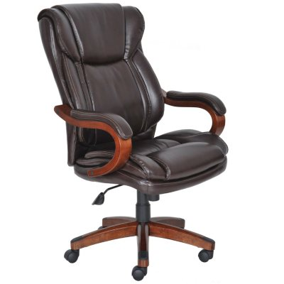Lane Big & Tall Bonded Leather Executive Chair, Frye Chocolate.  Ends: Dec 18, 2014 7:00:00 PM CST
