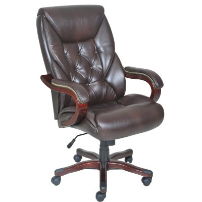Lane Big & Tall Bonded Leather Executive Chair.  Ends: Mar 29, 2015 7:00:00 AM CDT