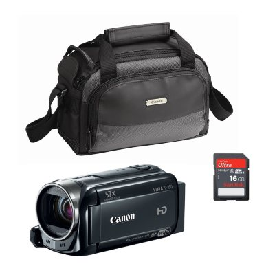 Canon Vixia HF R50 Camcorder Bundle with 16GB SD Card and Camera Case.  Ends: Dec 19, 2014 9:00:00 AM CST