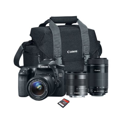 Canon EOS Rebel 70D Camera Bundle with 18-55 STM Lens, 55-250 STM Lens, Camera Bag, and 32GB SD Card.  Ends: May 30, 2015 10:00:00 AM CDT
