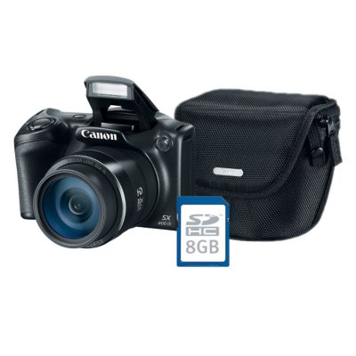 Canon PowerShot SX400 IS Digtial Camera Bundle with 16MP, 30x Optical Zoom, Camera Bag and 8GB SDHC Card.  Ends: May 27, 2015 5:00:00 AM CDT