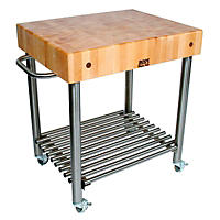 John Boos Cucina D'Amico Maple Top Kitchen Cart