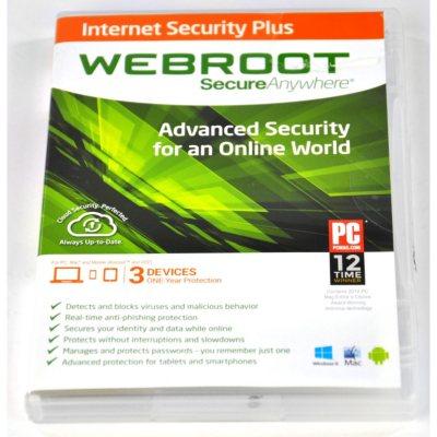 Webroot SecureAnywhere AntiVirus 3U Software.  Ends: Sep 1, 2014 8:40:00 AM CDT