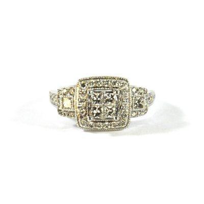 .96 TW. Diamond Bridal Ring in 14K White Gold.  Ends: Jul 28, 2015 9:45:00 PM CDT