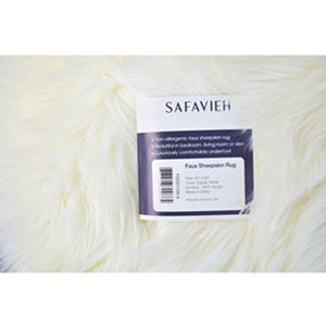 Large Faux Sheepskin Rug (60in. X 40in.)