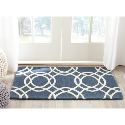Martha Stewart Plush Textured Wool Rug, Mariner Blue.  Ends: Dec 22, 2014 11:15:00 PM CST