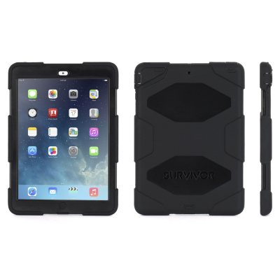 "Griffin Technology Survivor All-Terrain Case w/ Stand for iPad Air, Black (6.6"")"