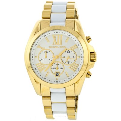 Bradshaw Chronograph White Dial Two-tone Ladies Watch