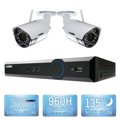 Lorex 4 Channel Wireless Security System with 500GB Hard Drive, 2 480TVL Cameras, and 90/135' Night Vision.  Ends: Sep 2, 2015 9:45:00 PM CDT