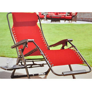 Oversized anti gravity suspension lounger red for Anti gravity suspension chaise lounge
