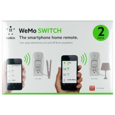 Belkin WeMo Switch Outlet - 2 Pack.  Ends: Oct 1, 2014 7:25:00 PM CDT