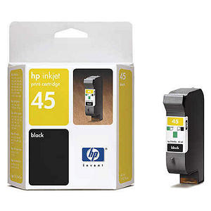 HP 45 Ink Cartridge Twin Pack - Black