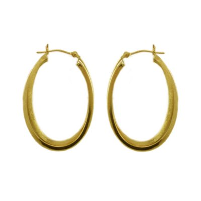 Double Square Tube Earrings in 14K Yellow Gold