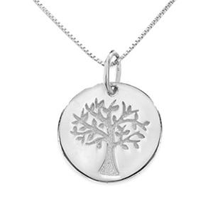 Love Earth 174 Tree Of Life Pendant In 14k White Gold