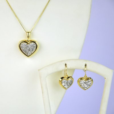 Love Earth Necklace & Earring Set with Swarovski Crystals