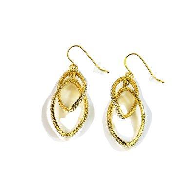 Two-Tone Dangle Earrings