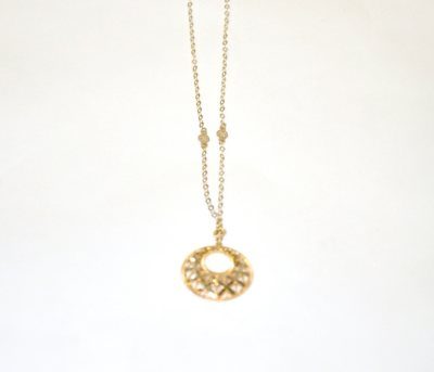 Royale Gold 14K Yellow Gold Disc Necklace