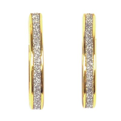 14K Yellow Gold Over .925 Sterling Silver Glitter Earrings.  Ends: May 25, 2016 5:00:00 PM CDT