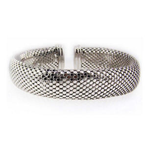 Sterling Silver Scale Weave Bangle Bracelet