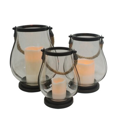 Flameless LED Glass Lanterns (3-Pack).  Ends: Aug 30, 2015 12:25:00 PM CDT