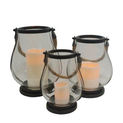 Flameless LED Glass Lanterns (3-Pack).  Ends: Sep 2, 2015 9:25:00 PM CDT