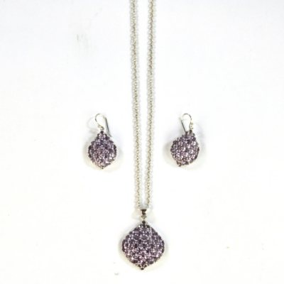 Amethyst Pendant & Earring Set, 925 Sterling Silver.  Ends: Oct 21, 2014 10:06:00 AM CDT