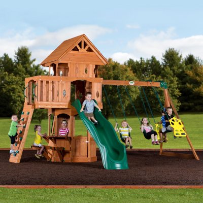 Leisure Time Woodland Swing Set.  Ends: Sep 22, 2014 9:55:00 PM CDT