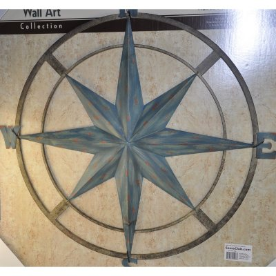 """42"""" Metal Compass Wall Art.  Ends: May 6, 2015 12:00:00 PM CDT"""