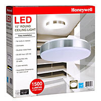 """Honeywell 15"""" Round Dimmable LED Puff Light, White"""