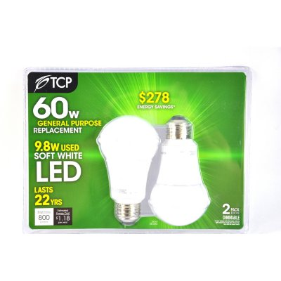 10W Sw A19 Led 2Pk Soft White Led.  Ends: May 30, 2015 2:00:00 AM CDT