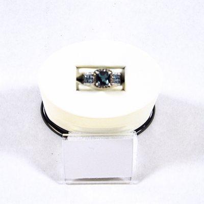 London Blue Topaz & .21 CT. TW. Diamond Ring in 14K White Gold.  Ends: Sep 2, 2015 9:30:00 PM CDT