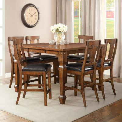 Parker 7-pc Counter Height Dining Set.  Ends: Aug 30, 2015 9:40:00 PM CDT