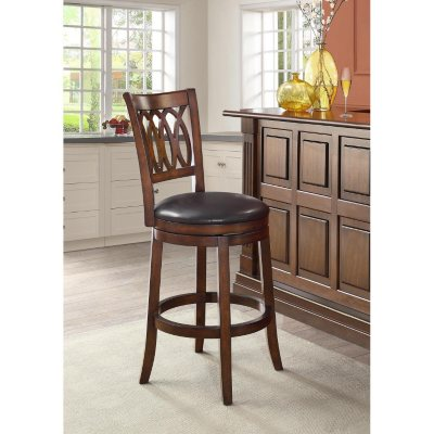 """Gianna Collection 25"""" Bonded Leather Swivel Barstool"""