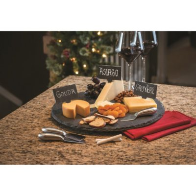 Slate Lazy Susan 9-Piece Serving Set.  Ends: Dec 19, 2014 12:20:00 AM CST