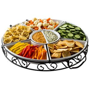 Lazy Susan w/ Ceramic Bakers - 7 pc.