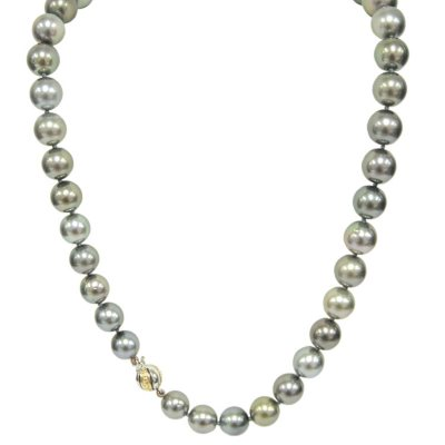 9-12mm Cultured Tahitian Pearl Necklace.  Ends: May 25, 2016 5:00:00 PM CDT