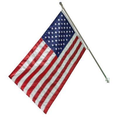 American Flag Kit - 3X5 Flag with Aluminum Pole.  Ends: Jul 31, 2016 5:00:00 AM CDT