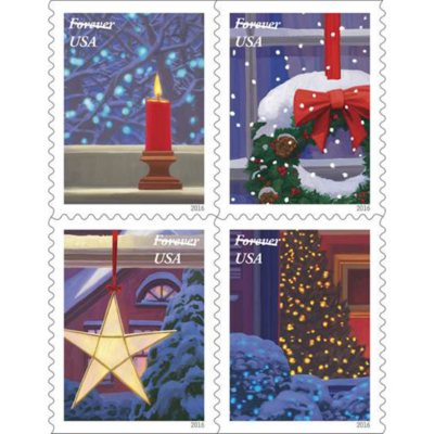 Holiday Forever USPS Postage Stamps - 40 stamps - 2 sheets.  Ends: Jun 19, 2013 9:05:00 PM CDT