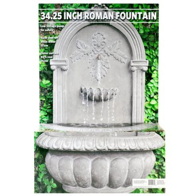"""34.25"""" Roman Wall Fountain.  Ends: May 25, 2016 5:00:00 AM CDT"""