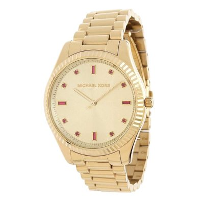 Michael Kors Women's Pink/Gold-Tone Bracelet Watch.  Ends: Feb 14, 2016 1:50:00 AM CST