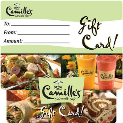 Camille's Sidewalk Cafe $40 Multi-Pack - 2/$20 Gift Cards.  Ends: Jul 28, 2014 8:05:00 AM CDT