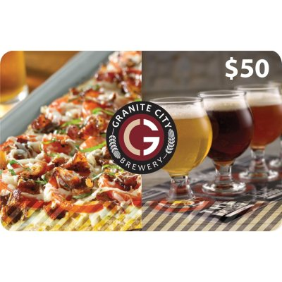 Granite City Food & Brewery $100 Multi-Pack (2/$50 Gift Cards).  Ends: Apr 23, 2014 6:20:00 PM CDT