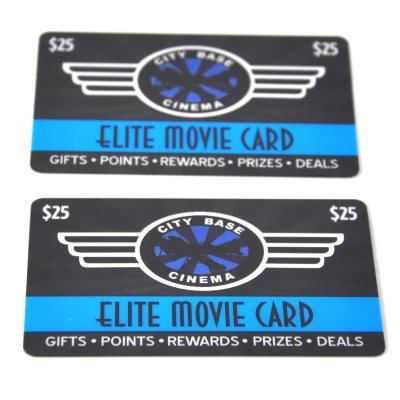 City Base Cinema $50 Multi-Pack – Two $25 Gift Cards.  Ends: Jul 30, 2016 3:30:00 PM CDT