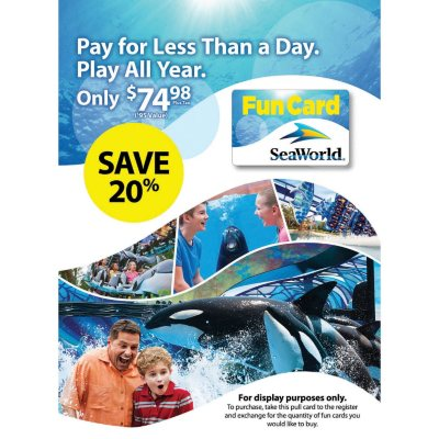 SeaWorld Orlando Fun Card.  Ends: Aug 30, 2015 2:35:00 PM CDT