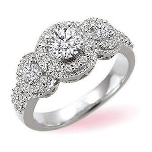 Modern Love Round Diamond Bridal Ring (I, I1)