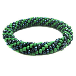 Beads of Hope Seed Bead Bracelet - Blue & Green