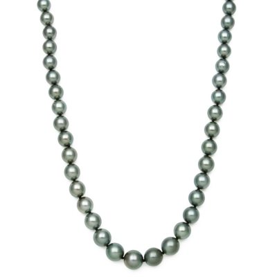 """17"""" Cultured Tahitian Pearl Necklace in 14K Yellow gold.  Ends: Jun 29, 2016 9:00:00 PM CDT"""