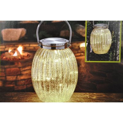 Hand Blown Mercury Glass LED Lantern.  Ends: Oct 2, 2014 2:00:00 AM CDT