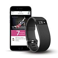 Fitbit Charge HR + FitStar Personal Training Bundle (Small)